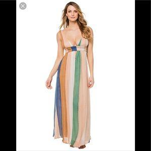 abedc43dcb Indah Wovens Anjeli Plunging Maxi Dress